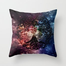Viking Tree of life Throw Pillow