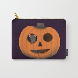 Halloween Rat in a Pumpkin Carry-All Pouch