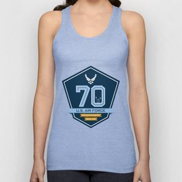 The Official Air Force 70th Anniversary Logo Unisex Tank Top