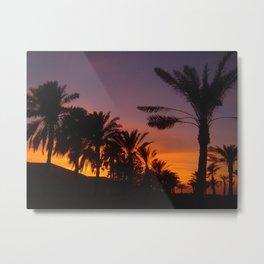 Arabian sunset Metal Print