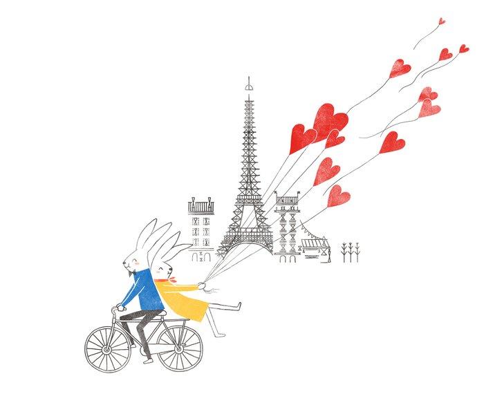 Paris in Love Metal Travel Mug