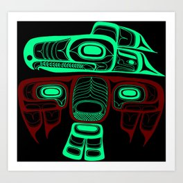 Native American style Tlingit Thunderbird Art Print
