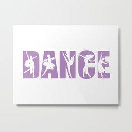 Dance in Light Purple with Dancer Cutouts Metal Print
