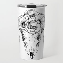 Flower Skull Travel Mug