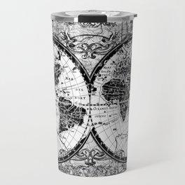 world map black and white Travel Mug