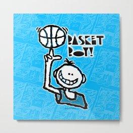 Basket Boy 7 Metal Print