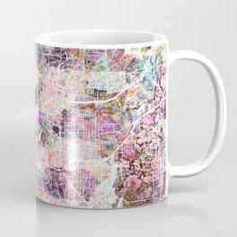 San Antonio map flowers Coffee Mug