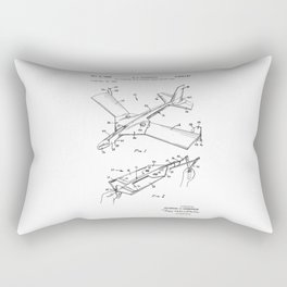 patent art Anderson Toy airplane with folding wings having tabs 1968 Rectangular Pillow