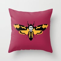 silence of the lambs Throw Pillows featuring The Silence of the Lambs by FilmsQuiz