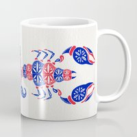 patriotic Mugs featuring Patriotic Scorpion by Cat Coquillette