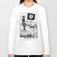 tarot Long Sleeve T-shirts featuring Tarot XIII by Shaina Stern