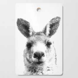 Black and white kangaroo Cutting Board