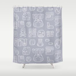 Picto-glyphs Story Shower Curtain