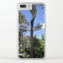 Corner of Haight and Ashbury in San Francisco Clear iPhone Case