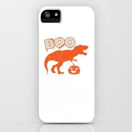 Boo T Rex Dinosaur Pumpkin Funny Halloween iPhone Case