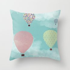 Postcard from my mind Throw Pillow