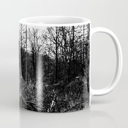 Fallen And Broken Trees After Storm Victoria February 2020 Möhne Forest 5 bw Coffee Mug
