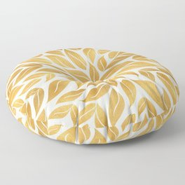 Golden Leaf Mandala Floor Pillow