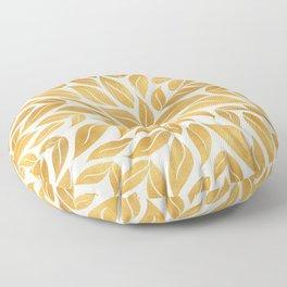 Golden Leaf Mandala Floor Pillow