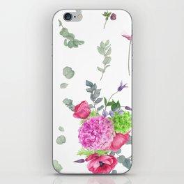 Hydrangeas and anemones iPhone Skin