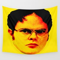 "dwight Wall Tapestries featuring Dwight Schrute ""FACT"" by Silvio Ledbetter"