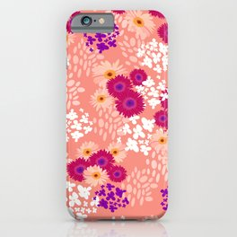 Small gerbera floral pattern iPhone Case