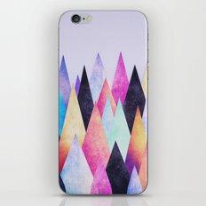 Colorful Abstract Geometric Triangle Peak Wood's  iPhone Skin