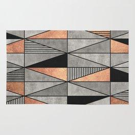 Concrete and Copper Triangles Rug