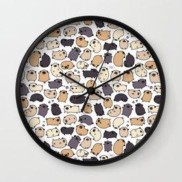 Pug Life Doodle Wall Clock