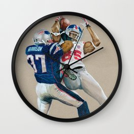 The Catch - Colored Pencil Sports Wall Clock
