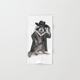 """"""" Raccoon Bandit """" funny western raccoon Hand & Bath Towel"""