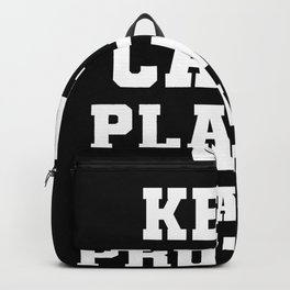 Keep Calm Plants Have Protein Vegan Gift Backpack