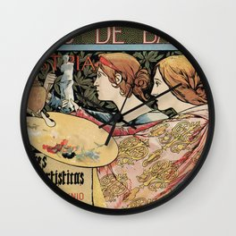Vintage Art Nouveau expo Barcelona 1896 Wall Clock