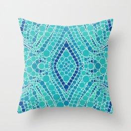 BERMUDA beautiful shades of aquamarine Throw Pillow