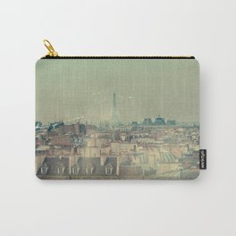 Eiffel Tower from Above, Vintage Styled Carry-All Pouch