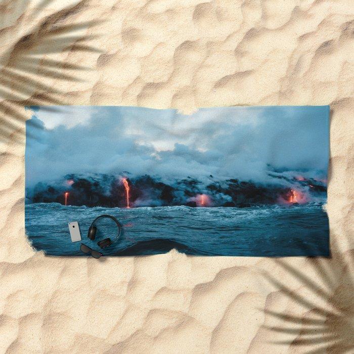 Volcano #ocean Beach Towel