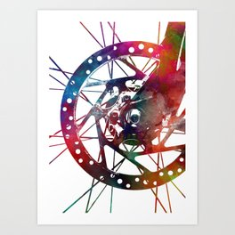 Cycling #cycling #sport Art Print