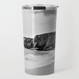 Bedrock Seascape Grayscale #9 Travel Mug