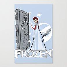 Carbon Frozen Canvas Print