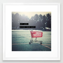 Grocery Cart Rage  Framed Art Print