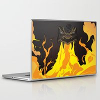 dungeons and dragons Laptop & iPad Skins featuring DUNGEONS & DRAGONS - INTRO by Zorio