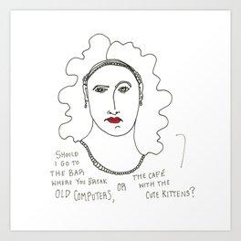 The Dilemma Art Print