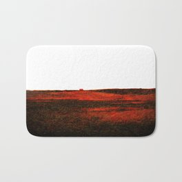 Red landscape Bath Mat