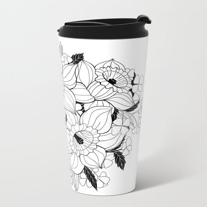 Daffodil bouquet Metal Travel Mug