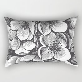 Vintage Floral Bouquet Rectangular Pillow