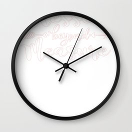 Religious Quote Blessed Beyond Measure Wall Clock