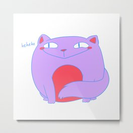 Smug Pastel Kitty Metal Print