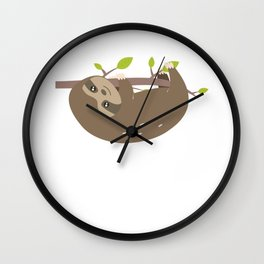 Just A Girl Who Loves Sloths Funny Sloth Lovers Wall Clock