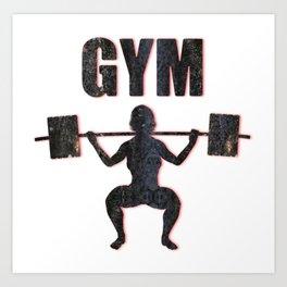 Gym Female Weightlifter Art Print