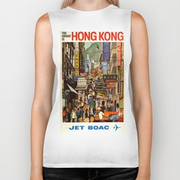 Vintage poster - Hong Kong Biker Tank
